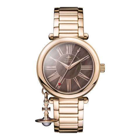 Vivienne Westwood Rose Gold Mother Orb Watch