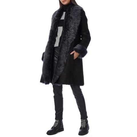 Max and Zac London Black 3/4 Classic Coat