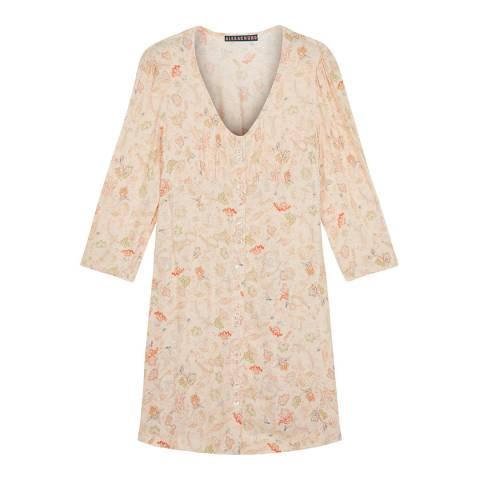 ALEXA CHUNG Cream Button Through Midi Dress