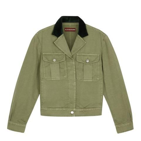 ALEXA CHUNG Washed Green Field Jacket