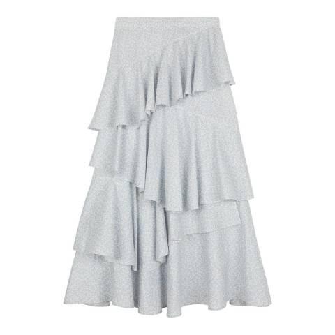 ALEXA CHUNG Ivory Long Tiered Ruffled Skirt