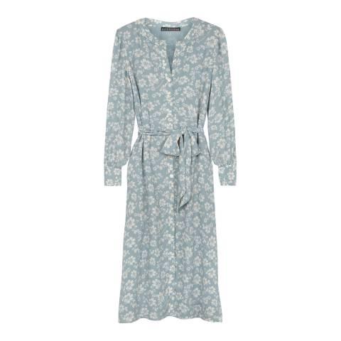 ALEXA CHUNG Pale Blue Tie Waist Dress