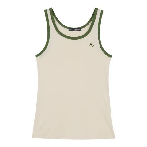 ALEXA CHUNG Cream/Green Embroidered Vest