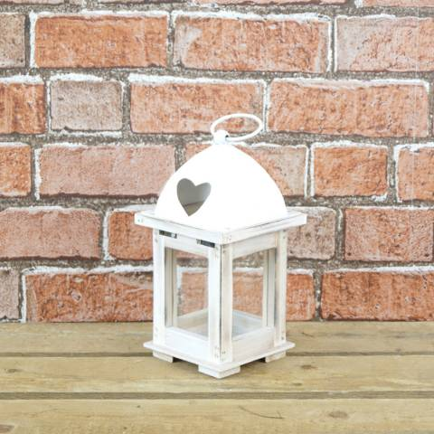 The Satchville Gift Company Wood and metal lantern