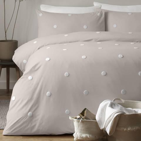 N°· Eleven Dot Garden Single Duvet Cover Set, Linen/White