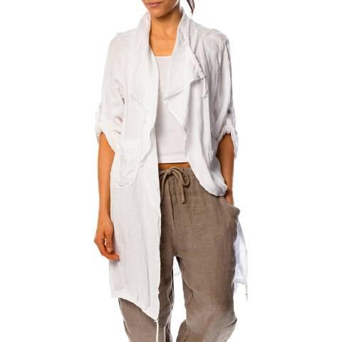 100% Linen White Anemone Linen Jacket