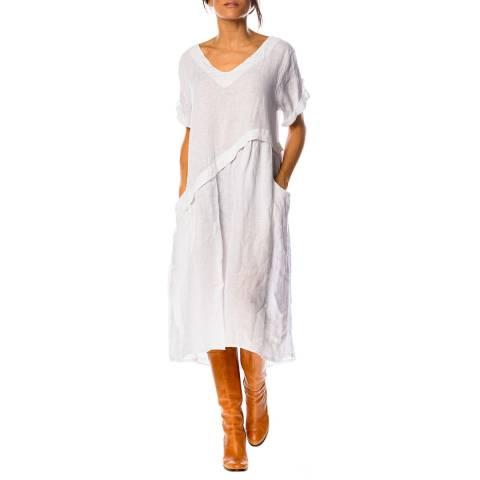 100% Linen White Garance Linen Dress