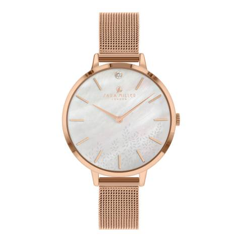 Sara Miller Rose Gold Mother of Pearl Dial Watch
