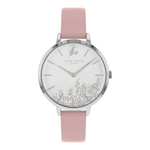 Sara Miller Pink Bontanical Dial Watch