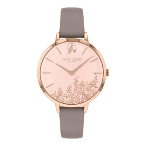 Sara Miller Grey Bontanical Dial Watch