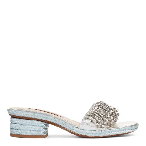 ALEXA CHUNG Silver Embellished Cocktail Mule