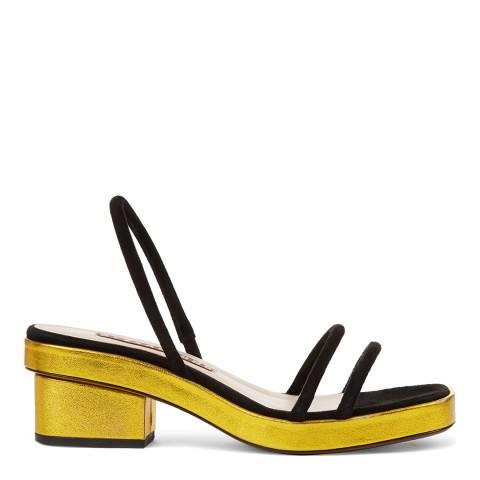 ALEXA CHUNG Black/Gold Perfect Sandal