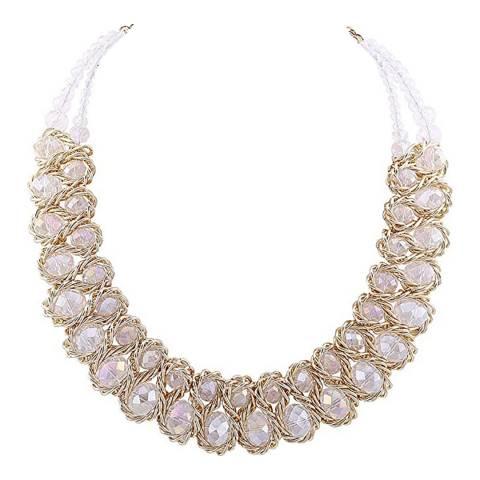 Liv Oliver 18K Gold Plated Crystal Necklace