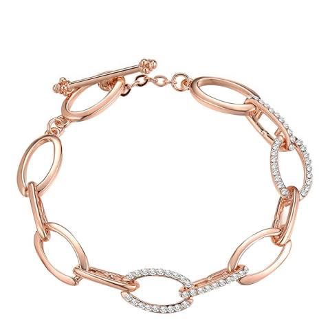 Liv Oliver 18K Rose Gold Plated Plated Crystal Link Bracelet
