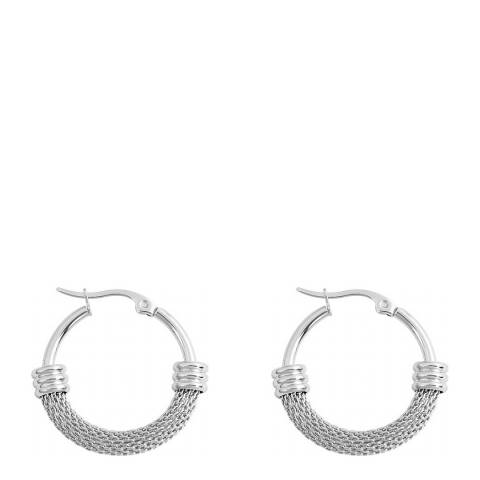 Liv Oliver Silver Plated Hoop Earrings