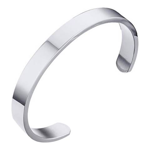 Stephen Oliver Silver Plated Cuff Bangle