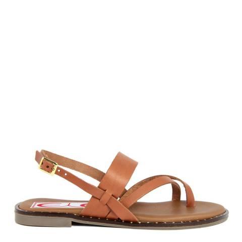 Eye Brown Suede Flip Flop Sandal