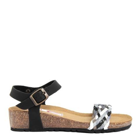 Eye Black Multi Flat Sandal