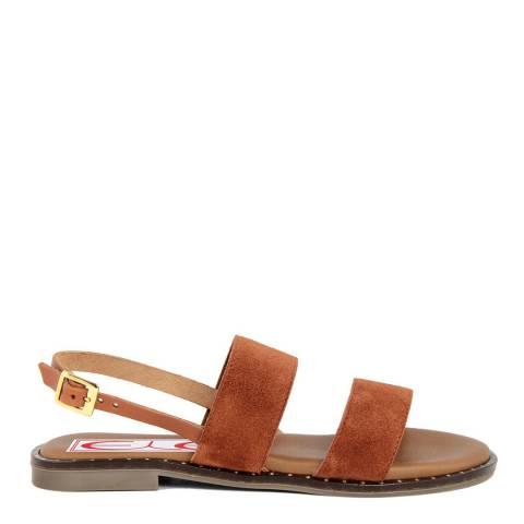 Eye Tan Suede Susy Flat Sandal