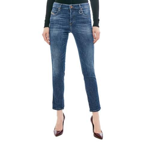 Diesel Mid Blue Babhila Slim Stretch Jeans