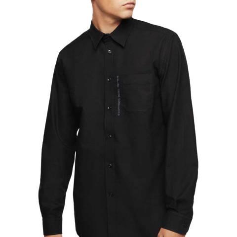 Diesel Black Moi Cotton Blend Shirt