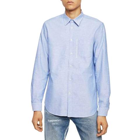 Diesel Light Blue Moi Cotton Blend Shirt