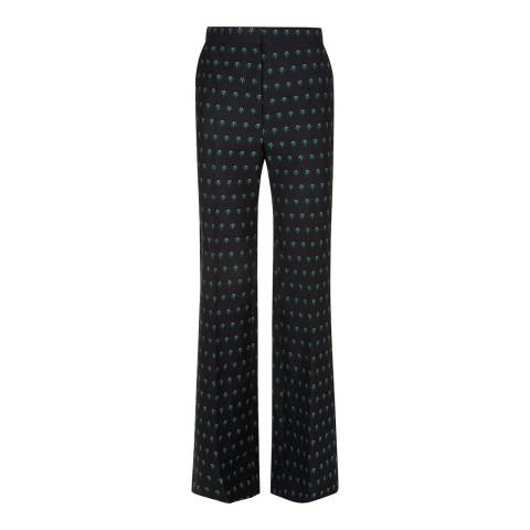 ALEXA CHUNG Black Wide Leg Trousers