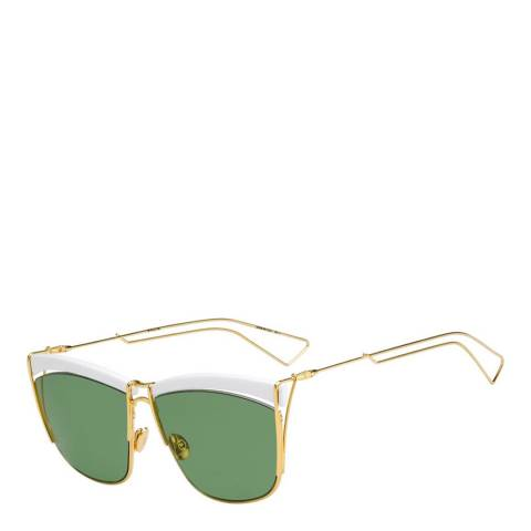 Christian Dior Women's White Yellow Gold Christian Dior Sunglasses 58mm