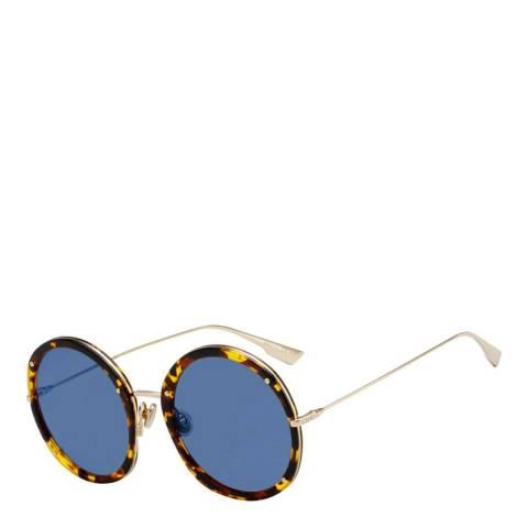 Christian Dior Women's Yellow Havana Gold Christian Dior Sunglasses 56mm