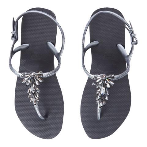 Havaianas Black & Graphite Capri Flip Flops