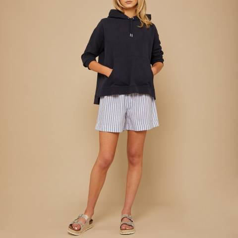 N°· Eleven Navy Cotton Hooded Sweatshirt