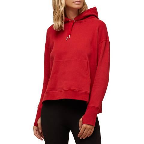 N°· Eleven Red Cotton Hooded Sweatshirt