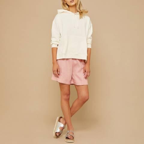 N°· Eleven Cream Cotton Hooded Sweatshirt