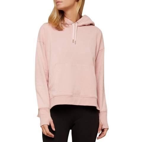 N°· Eleven Pink Cotton Hooded Sweatshirt