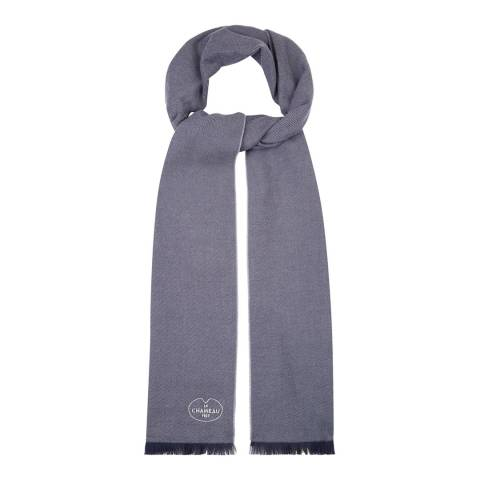Le Chameau Blue Cotton Scarf