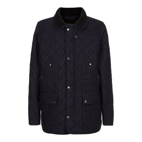 Le Chameau Men's Navy Quilted Wax Country Jacket