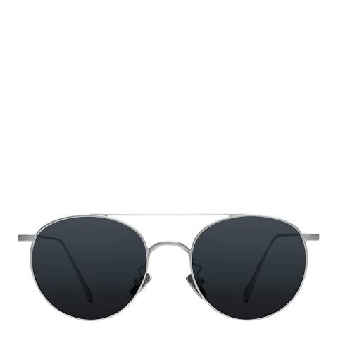 Cubitts Brushed Silver Large Bemerton Sunglasses 53mm