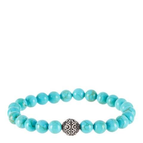 Stephen Oliver Gold Plated/Turquoise Carved Bracelet