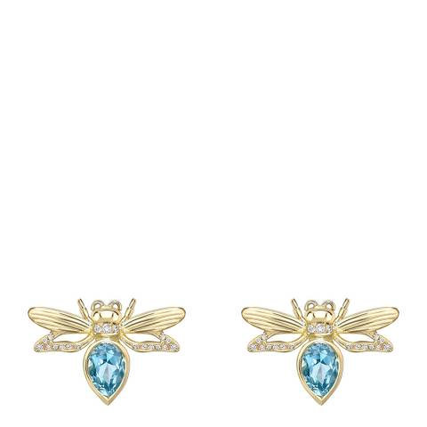 Theo Fennell 18ct Yellow Gold Blue Topaz Firefly Earrings