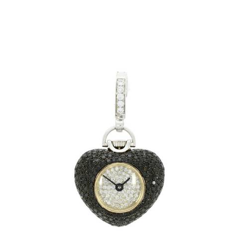 Theo Fennell 18ct White Gold Black Pave Watch Pendant