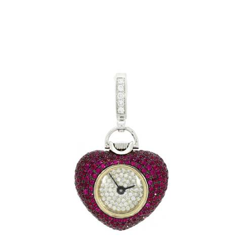 Theo Fennell 18ct White Gold Ruby Watch Pendant