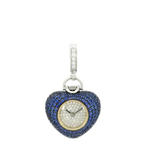 Theo Fennell 18ct White Gold Sapphire Watch Pendant