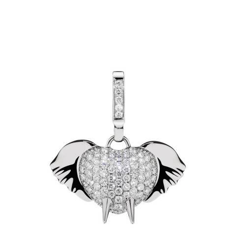 Theo Fennell 18ct White Gold Diamond Elephant Small Pendant