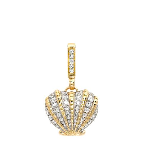 Theo Fennell 18ct Yellow Gold Diamond Scallop Small Pendant