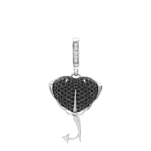 Theo Fennell 18ct White Gold Black Diamond Stingray Small Pendant