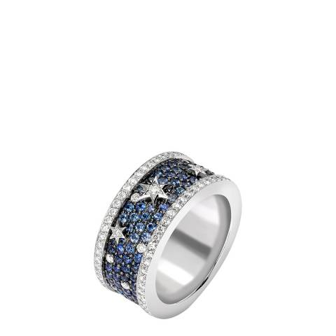 Theo Fennell 18ct White Gold Sapphire Celestial Band Ring