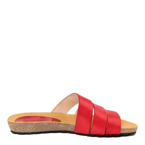 Piemme Red Multiple Strap Sandal