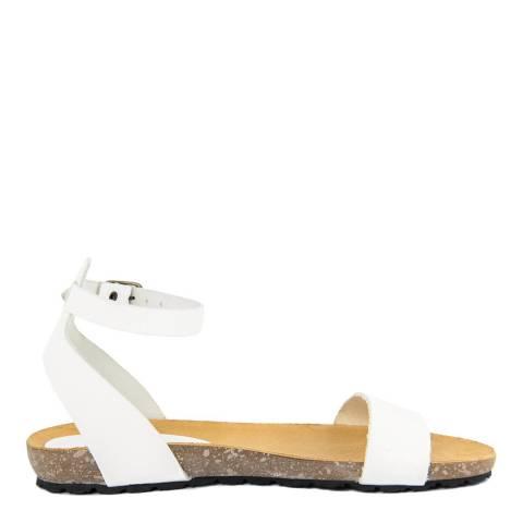 Piemme White Ankle Strap Sandal