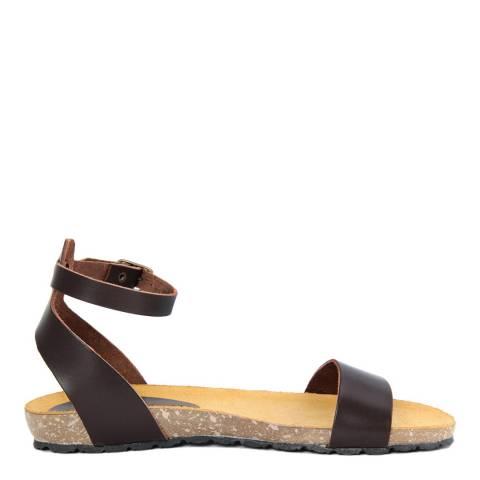 Piemme Brown Ankle Strap Sandal