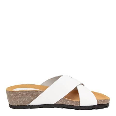 Piemme White Crossover Strap Sandal